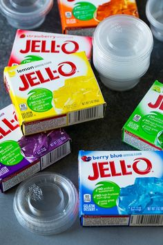 This jello shots recipe contains fruit flavored gelatin and vodka, which are mixed together, poured into cups, then chilled until firm. Yummy Jello Shots, Alcohol Jello Shots, Cherry Jello Shots, Making Jello Shots, Champagne Jello Shots, Jello Shot Recipes, Alcohol Drink Recipes, Yummy Drinks, Jolly Rancher Jello