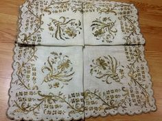 ottoman gold embroidery cevre