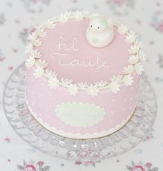 christening cake by petite homemade