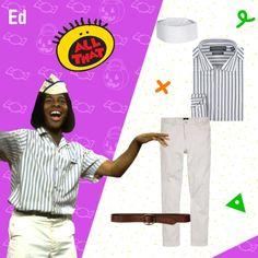 """Last Minute Halloween Costume Ideas- Ed """"Good Burger"""" 17"""