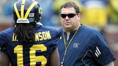 A side line interview with University of Michigan football coach Brady Hoke ...I don't know is never a good answer!