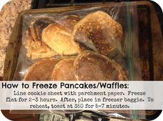 How to freeze pancakes!