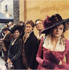 I absolutely love behind the scene pictures from Poldark! I also love Caroline's dress!