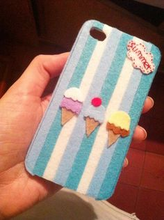 Felt phone case- Felt on plastic case.
