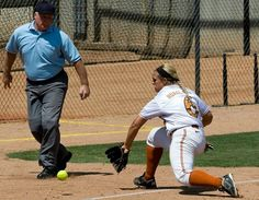 UT vs. New Mexico. Taylor Hoagland fielding a ground ball at third base (Photo by Jesse Drohen)