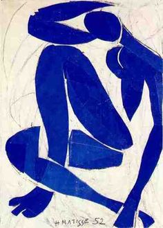 We celebrate Henri Matisse - born New Year's Eve 1869 (d. Henri Matisse: Blue Nude IV, 1952 - Gouache on paper cut-outs Henri Matisse, Musée Matisse Nice, Matisse Art, Matisse Tattoo, Matisse Drawing, Art And Illustration, Guache, Art Design, Love Art