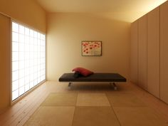 Japanese bedroom design single and alone Japan Bedroom, Ways To Sleep, Black Bedding, Colorful Pillows, Japanese House, Minimalist Living, Beautiful Bedrooms, Modern Bedroom, Bedroom Furniture