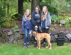 Sadie was adopted this morning! Angie and her family came up from Eugene, OR all the way to Port Orchard to meet Sadie and they all hit it off! She will get to go to work with Angie and she now has 2 two legged sisters to play with. Thank you for rescuing!