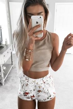 Printed Tulip Shorts