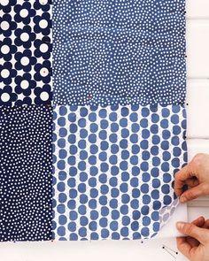 Patchworkdecke auf Vlies auflegen