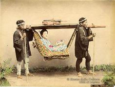 Kusakabe Kimbei, Kago (Palanchino), ca. 1890.