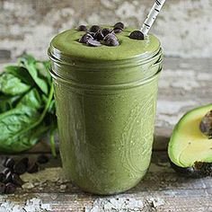 Mint Chocolate Chip Green Smoothie #recipe