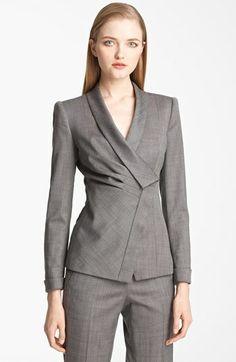Armani Collezioni Asymmetrical Micro Herringbone Jacket available at #Nordstrom