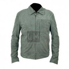 Oblivion Green Suede Leather Jacket
