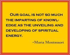 Montessori says ...
