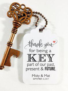 Wedding Favor Tags Antique Key Favors Key Wedding Favors