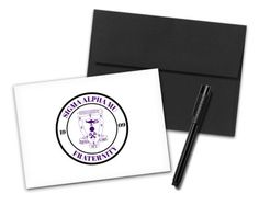 Includes your choice of envelope color. Wooden Greek Letters, Bid Day, One Sided, Coupon Codes, Note Cards, Envelope, Seal, Print Design, Stationery