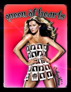 Happy Valentines Day! Ace of Spades - Queen of Hearts!
