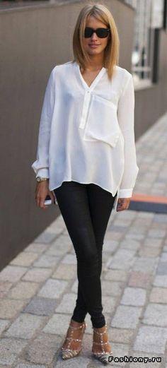 С чем носить белую рубашку? / fashiony белая рубашка