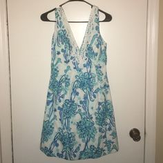 Lilly Pulitzer Ostrich Print Dress 4 EUC no trades. Lilly Pulitzer Dresses