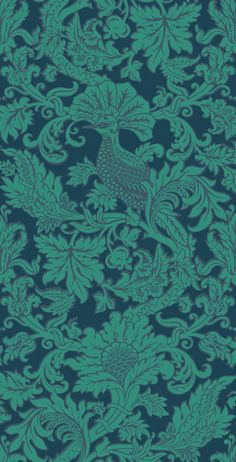 Balabina Midnight and Jade wallpaper by Cole & Son