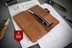 Card Wallet, Clutch Wallet, Leather Wallet Pattern, Leather Workshop, Wallet Tutorial, Long Wallet, Leather Craft, Leather Bag, Iphone Wallet