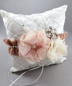 Fall style ring bearer pillowFlower girl basket by AngelicasBridal, $60.00