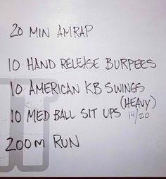 WOD - amrap = as many reps as possible ~ Re-pinned by Crossed Irons Fitness