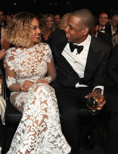 GRAMMY nominees Beyonce And Jay Z at the 56th Annual GRAMMY Awards on Jan. 26 in Los Angeles