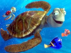 Disney Movie Characters | Disney Cartoons Animated film Characters Marlin and dory smiling and ...