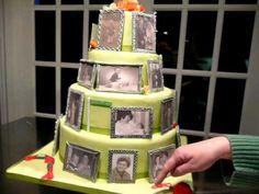 Miep's 80th Photo Frame Birthday Cake