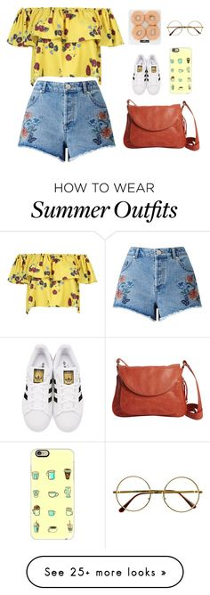 """""""Summer Outfit #24"""" by kita0996 on Polyvore featuring WithChic, Miss Selfridge, Latico, adidas Originals, Retrò and Casetify"""