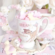 Image discovered by Krystle Burke. Find images and videos about pink, girly and disney on We Heart It - the app to get lost in what you love. Deco Disney, Walt Disney, Disney Magic, Disney Parque, Pink Lila, Pink Bows, Disney Cups, Chocolate Caliente, Disney Aesthetic