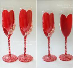 SALE  Wedding glasses Red Wedding Champagne от JewelryBouquet