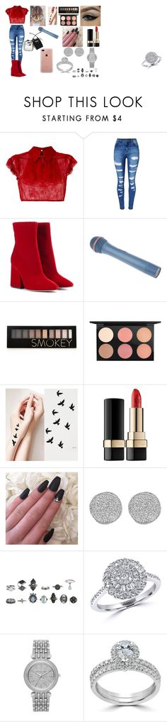 """""""adorn (to j)"""" by rochellepires22 on Polyvore featuring N°21, WithChic, Maison Margiela, Forever 21, MAC Cosmetics, Dolce&Gabbana, Karen Kane, Effy Jewelry, Michael Kors and Bliss Diamond"""