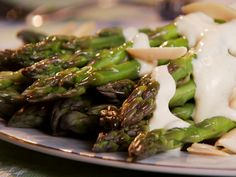 Asparagus with Creamy Mustard Sauce from FoodNetwork.com