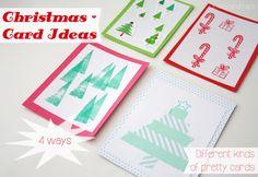 Schnelle Ideen für einfache Weihnachtskarten