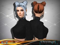 New Hair mesh ll 27 colors with dark roots ll Support HQ ll no morph ll smooth bones assignment ll support with hats ll All LODs ll with Ambient Occlusion/Shadow Map  Found in TSR Category 'Sims 4...