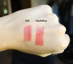Dupe for MAC See Sheer Lipstick >> Maybelline Color Sensational Lipstick in Park Ave Peach