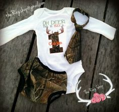 Camo Birthday Outfit Oh Deer This lil Buck is 1 by TheRagShop1
