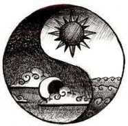 This is the most beautiful ying-yang tattoo idea I have ever seen . I Love this because I want a sun and moon tattoo, and a yin yang tattoo! I recommend this tattoo Yin Yang Tattoos, Tatuajes Yin Yang, Drawing Sketches, Pencil Drawings, Tattoo Sketches, Drawing Tips, Easy Sketches, Drawing Designs, Drawing Drawing