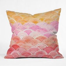 Cori Dantini Warm Spectrum Rainbow Throw Pillow
