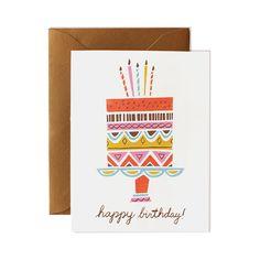 Birthday Card Happy Birthday Card Birthday Cake by mydearfellowco