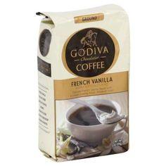 GODIVA CHOCOLATIER ground French Vanilla coffee. Love that aroma! #Godiva #FrenchVanilla