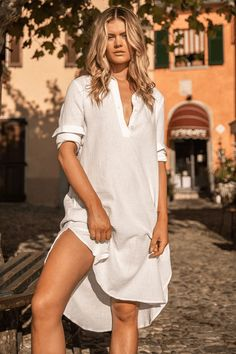 All White Linen BoHo Long Sleeve Midi Shirt Dress Women's. This All White Cotton Bohemian Long Sleeve Button Front Shirt Dress Summer.  100% textured white cotton     #Bohemian  #BohemianFashion #BohemianStyle #Boho #BohoFashion #BohoStyle Summer Dress Outfits, Summer Dresses For Women, Dress Summer, Boyfriend Shirt Dress, Boho Fashion, Fashion Dresses, White Boho Dress, Mini Skirt Dress, Bohemian Style Clothing