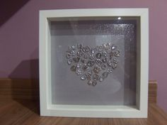 Silver Glitter Heart Frame  wedding  by CathsLittleTreasures
