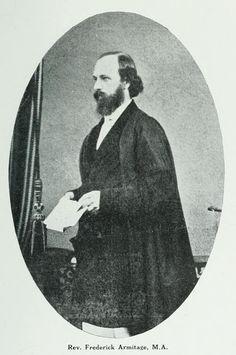 Rev. Frederick Armitage, M.A. - Head Master The Kings School c1850s