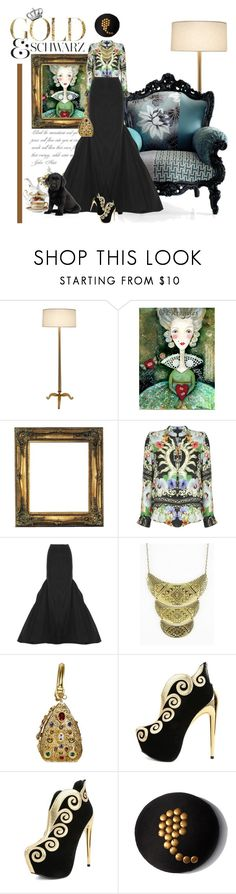 """Baroque Romance"" by reenz ❤ liked on Polyvore featuring ...Lost, Philipp Plein, Royal Albert, Michael Kors, Dolce&Gabbana, Ann-Marie Faulkner Millinery, Wedgwood & Bentley, gold, maxiskirt and baroque"