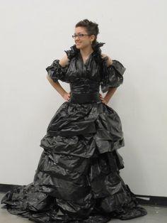 garbage bag dress - Google Search