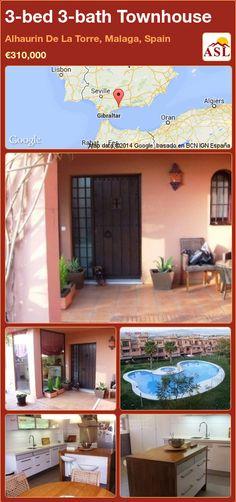 3-bed 3-bath Townhouse in Alhaurin De La Torre, Malaga, Spain ►€310,000 #PropertyForSaleInSpain
